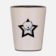 Westie Star Shot Glass