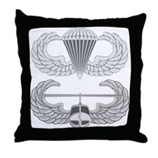 Airborne and Air Assault Throw Pillow