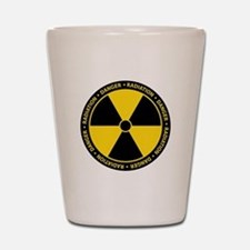 Radiation Warning Shot Glass
