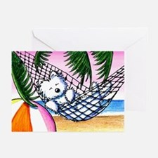 Vacation Westie Greeting Cards (Pk of 10)