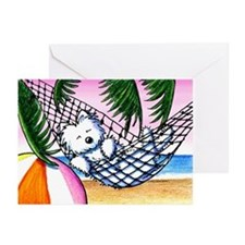 Vacation Westie Greeting Cards (Pk of 20)