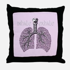 Anatomy of Breath in Violet Throw Pillow