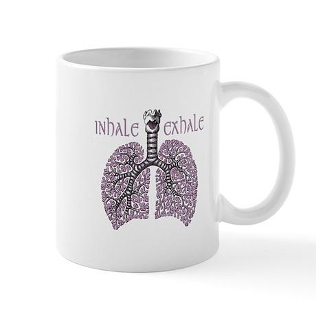 Anatomy of Breath in Violet Mug