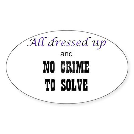 CastleTV All Dressed Up... Sticker (Oval)