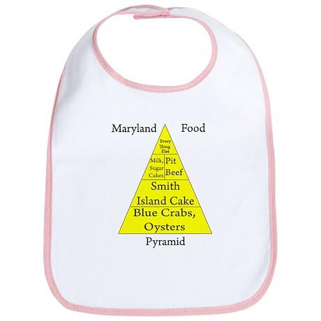Maryland Food Pyramid Bib