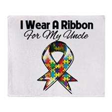 Autism Ribbon My Uncle Throw Blanket