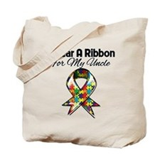 Autism Ribbon My Uncle Tote Bag