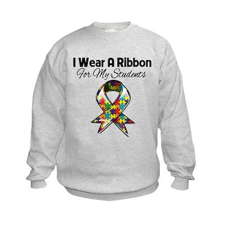 Autism Ribbon For My Students Kids Sweatshirt