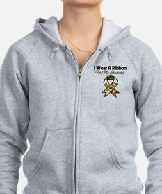 Autism Ribbon For My Students Zip Hoodie