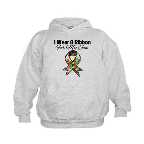 Autism Ribbon For My Son Kids Hoodie