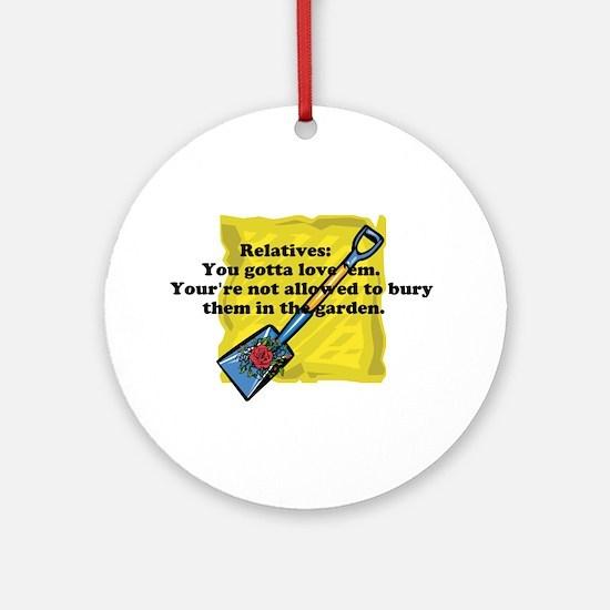 Loving Relatives Ornament (Round)