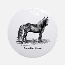 Canadian Horse Ornament (Round)