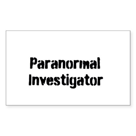 Paranormal Investigator Sticker (Rectangle)