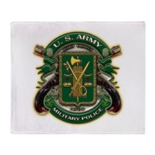 US Army MP Military Police Throw Blanket