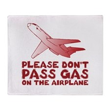 Farts on a Plane Throw Blanket