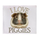 I love piggies Fleece Blankets