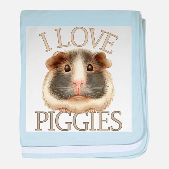 I Love Piggies baby blanket