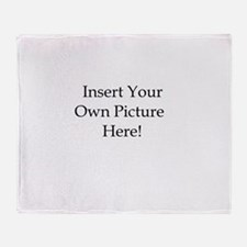 Upload your own picture Throw Blanket