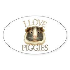 I Love Piggies Decal