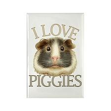 I Love Piggies Rectangle Magnet (10 pack)