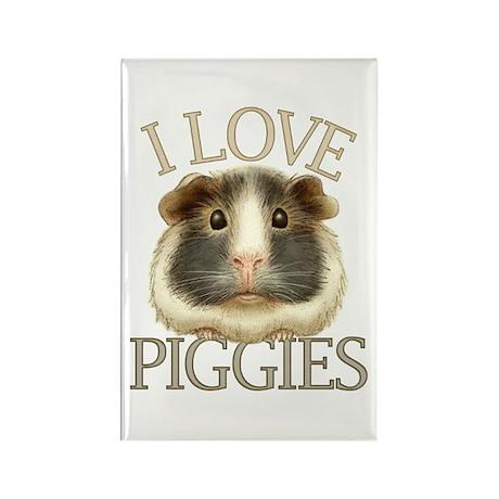 I Love Piggies Rectangle Magnet