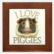 I Love Piggies Framed Tile