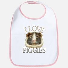 I Love Piggies Bib