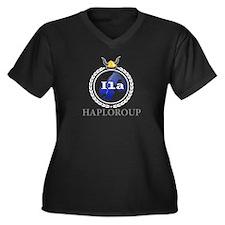 Cute Haplogroups Women's Plus Size V-Neck Dark T-Shirt
