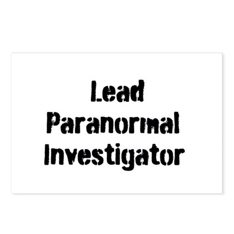 Lead Paranormal Investigator Postcards (Package of