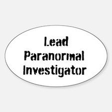 Lead Paranormal Investigator Decal