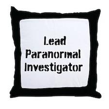 Lead Paranormal Investigator Throw Pillow