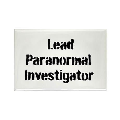 Lead Paranormal Investigator Rectangle Magnet
