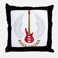 Cute Bass players Throw Pillow
