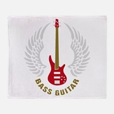 Unique Bass player Throw Blanket