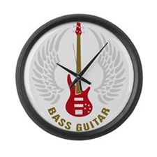Cute Bass player Large Wall Clock