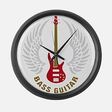 Cute Bass player Large Wall Clock