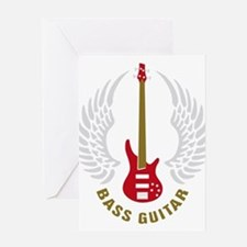 Unique Bass guitar Greeting Card