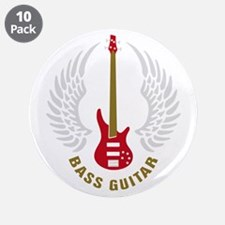 """Funny Bass player 3.5"""" Button (10 pack)"""
