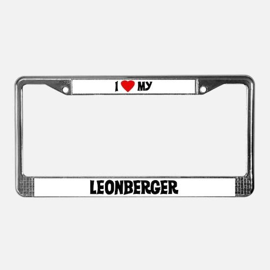 I Love My Leonberger License Plate Frame