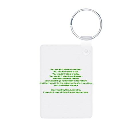PSAAdvertisement Aluminum Photo Keychain