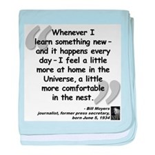 Moyers Learn Quote baby blanket
