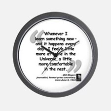 Moyers Learn Quote Wall Clock