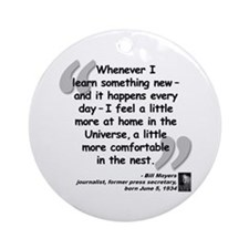 Moyers Learn Quote Ornament (Round)