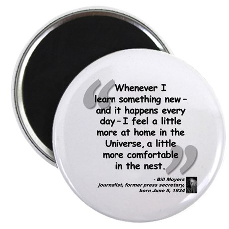 """Moyers Learn Quote 2.25"""" Magnet (100 pack)"""