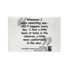 Moyers Learn Quote Rectangle Magnet