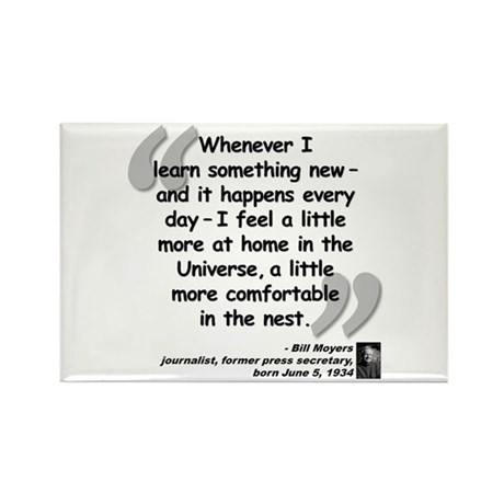 Moyers Learn Quote Rectangle Magnet (100 pack)