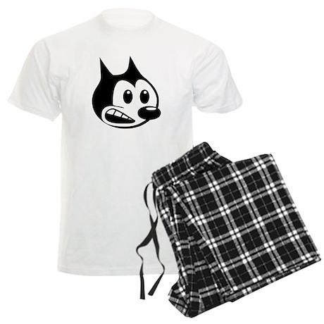 Retro Kartoon Kitty Men's Light Pajamas