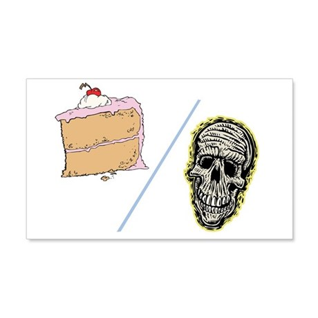 Cake or Death 22x14 Wall Peel