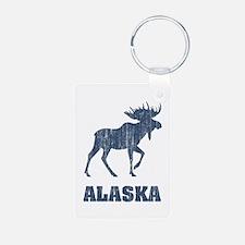 Retro Alaska Moose Keychains