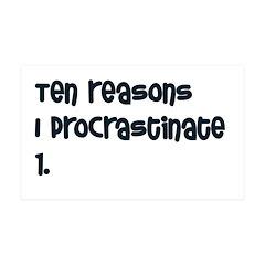 I Procrastinate 38.5 x 24.5 Wall Peel